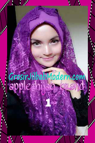 Jilbab Instant Syria Hoodie Layer Maryam by Apple Hijab Brand No 1 Ungu
