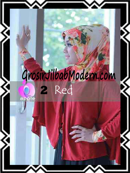 Jilbab Lengan Modern Syar'i Al Waqiah by Apple Hijab Brand No 2 Red