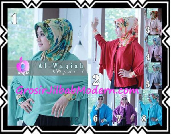 Jilbab Lengan Modern Syar'i Al Waqiah by Apple Hijab Brand Series