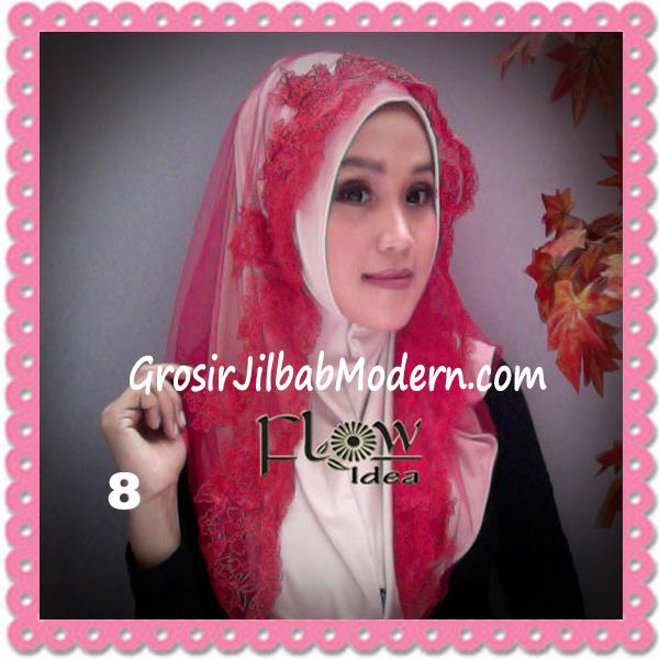 Jilbab Modern Syria Hoodie Tutu Ladiva Original By Flow Idea No 8 Cream Merah
