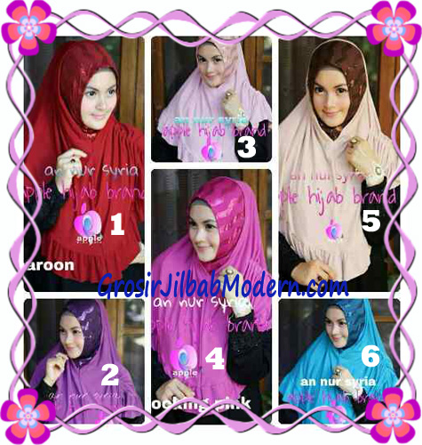 Jilbab Pesta Instant Modern An Nur Syira Sequin by Apple Hijab Brand Series