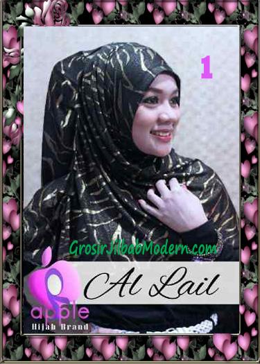 Jilbab Syria Syar'i Modis Al Lail by Apple Hijab Brand No 1 Hitam