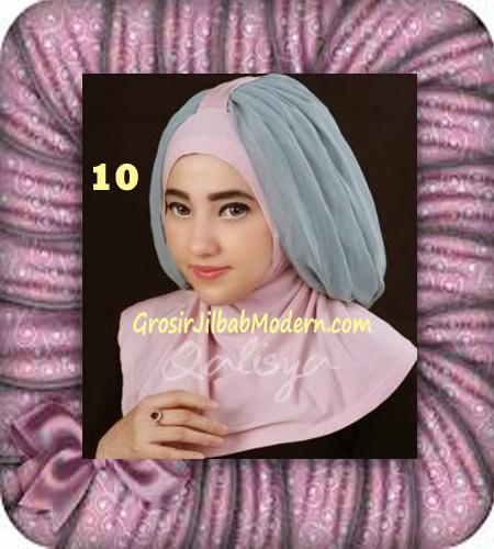 Jilbab Syria Unik Trendy Faustine Original by Qalisya Hijab Brand No 10