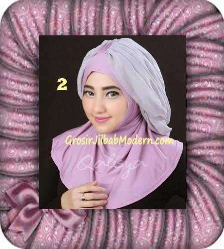 Jilbab Syria Unik Trendy Faustine Original by Qalisya Hijab Brand No 2