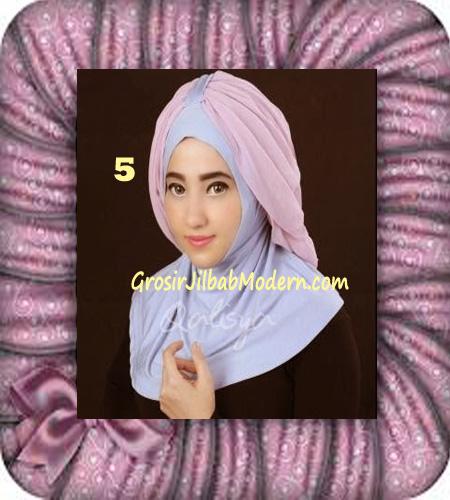 Jilbab Syria Unik Trendy Faustine Original by Qalisya Hijab Brand No 5