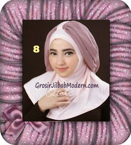Jilbab Syria Unik Trendy Faustine Original by Qalisya Hijab Brand No 8