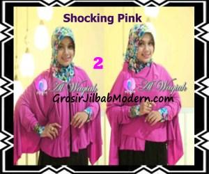 Jilbab Tangan Syar'i Modern Al Waqiah Seri 2 by Apple Hijab Brand No 2 Shocking Pink
