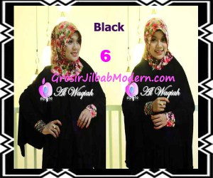 Jilbab Tangan Syar'i Modern Al Waqiah Seri 2 by Apple Hijab Brand No 6 Black