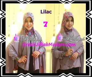 Jilbab Tangan Syar'i Modern Al Waqiah Seri 2 by Apple Hijab Brand No 7 Lilac