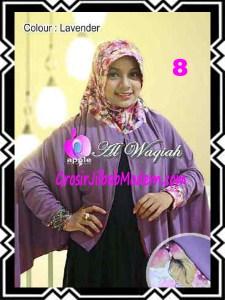 Jilbab Tangan Syar'i Modern Al Waqiah Seri 2 by Apple Hijab Brand No 8 Lavender