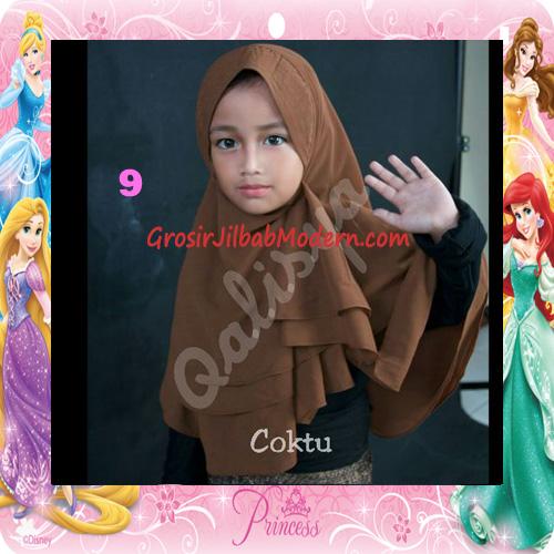 Jilbab Cerutti Cantik Mijwad For Kids Original by Qalisya No 9 Coktu