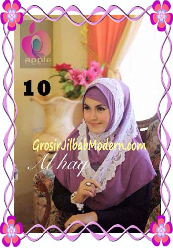 Jilbab Instant Modern Mewah Al Haq by Apple Hijab Brand No 10 Lavender