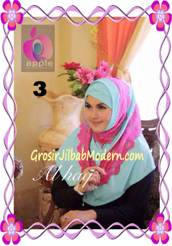 Jilbab Instant Modern Mewah Al Haq by Apple Hijab Brand No 3 Baby Tosca