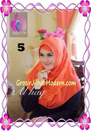 Jilbab Instant Modern Mewah Al Haq by Apple Hijab Brand No 5 Bata