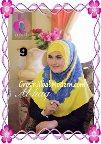 Jilbab Instant Modern Mewah Al Haq by Apple Hijab Brand No 9 Kuning