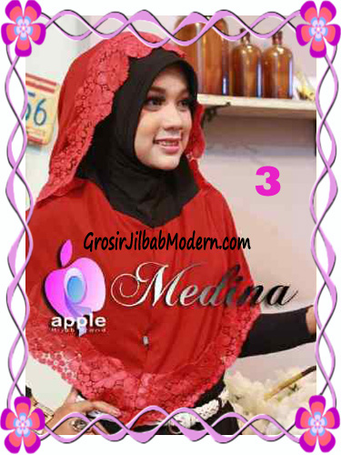 Jilbab Syar'i Medina Model Capuchon Original by Apple Hijab Brand No 3