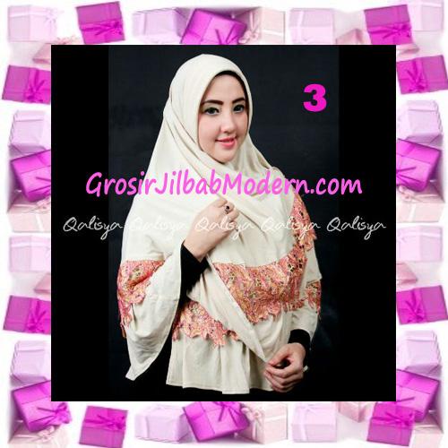 Jilbab Syar'i Qisya Renda 3 Dimensi Original by Qalisya No 3