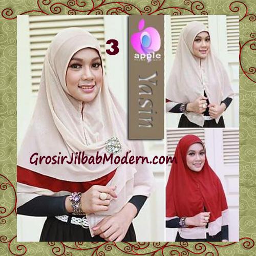 Jilbab Syria Modern Bolak Balik Yasin Mewah by Apple Hijab Brand No 3