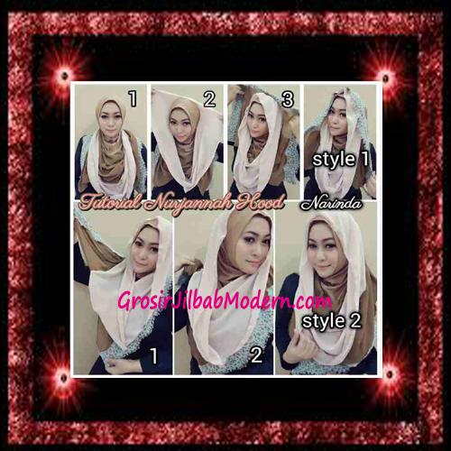 Jilbab Hoodie Instant Trendy Nurjannah Original by Narinda - Cara Pemakaian