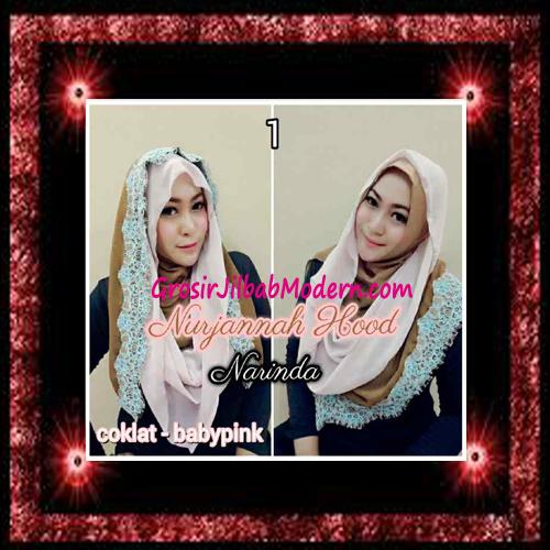 Jilbab Hoodie Instant Trendy Nurjannah Original by Narinda No 1