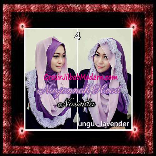 Jilbab Hoodie Instant Trendy Nurjannah Original by Narinda No 4