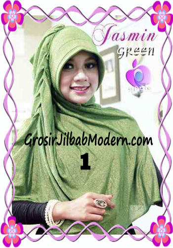 Jilbab Instant Modis Praktis Yasmin Premium by Apple Hijab Brand No 1 Hijau