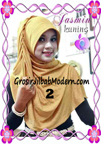 Jilbab Instant Modis Praktis Yasmin Premium by Apple Hijab Brand No 2 Kuning