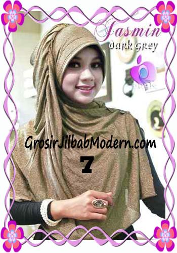 Jilbab Instant Modis Praktis Yasmin Premium by Apple Hijab Brand No 7 Coklat Tua