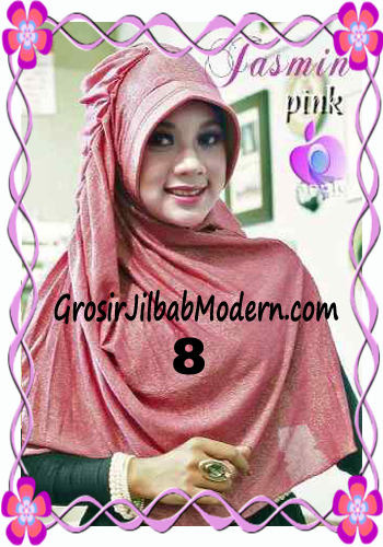 Jilbab Instant Modis Praktis Yasmin Premium by Apple Hijab Brand No 8 Pink