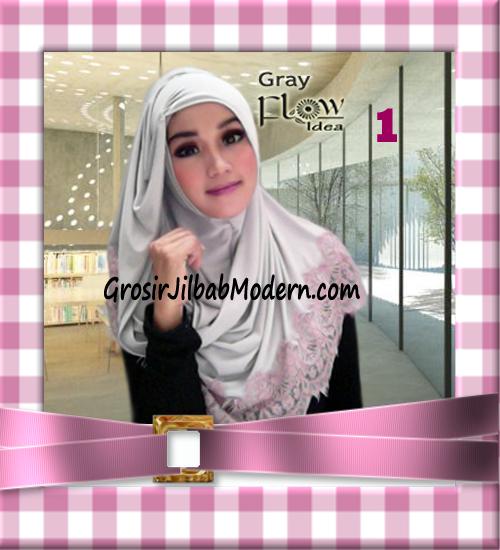 Jilbab Syria Layer Kerut Renda Two Tone Azzahra Original by Flow Idea No 1