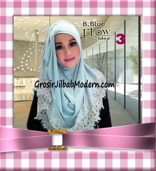 Jilbab Syria Layer Kerut Renda Two Tone Azzahra Original by Flow Idea No 3