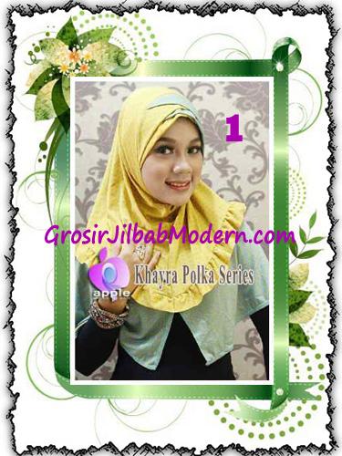 Jilbab Syria Modis Khayra Polka Series Premium by Apple Hijab Brand No 1