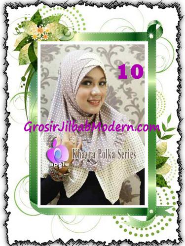 Jilbab Syria Modis Khayra Polka Series Premium by Apple Hijab Brand No 10