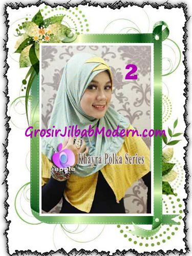 Jilbab Syria Modis Khayra Polka Series Premium by Apple Hijab Brand No 2