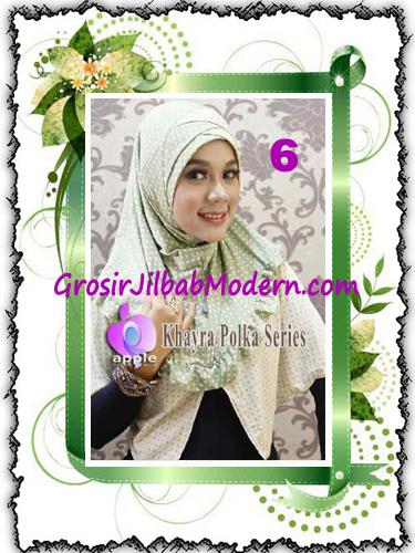Jilbab Syria Modis Khayra Polka Series Premium by Apple Hijab Brand No 6
