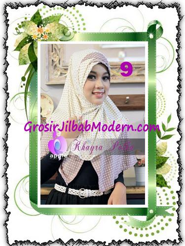 Jilbab Syria Modis Khayra Polka Series Premium by Apple Hijab Brand No 9