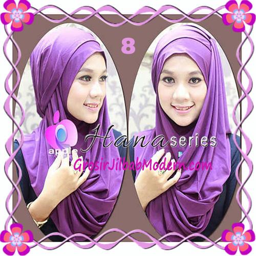 Pashmina Cantik Instant Hanna ala Dewi Sandra Sinetron CHSI Original by Apple Hijab Brand No 8 Ungu Tua