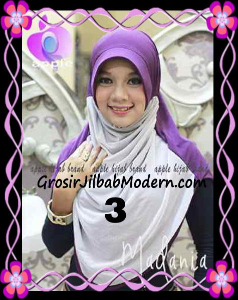 Jilbab Instant Cantik Syria Pet Madania Original Apple Hijab Brand No 3
