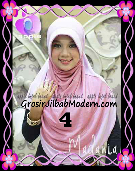 Jilbab Instant Cantik Syria Pet Madania Original Apple Hijab Brand No 4
