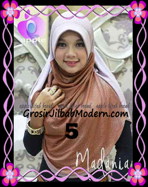 Jilbab Instant Cantik Syria Pet Madania Original Apple Hijab Brand No 5