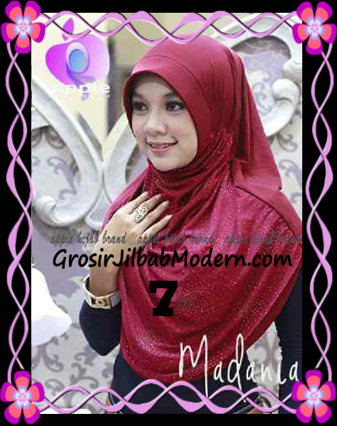 Jilbab Instant Cantik Syria Pet Madania Original Apple Hijab Brand No 7