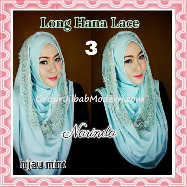 Jilbab Instant Long Hana Lace CHSI Original by Narinda No 3 Hijau Mint