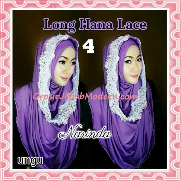 Jilbab Instant Long Hana Lace CHSI Original by Narinda No 4 Ungu