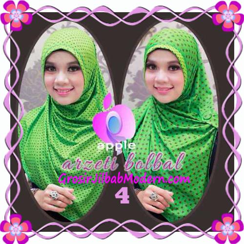 Jilbab Syria Arzety Bolak Balik Polka Bintang Original Apple Hijab Brand No 4 Hijau