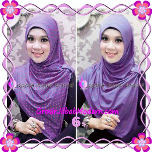 Jilbab Syria Arzety Bolak Balik Polka Bintang Original Apple Hijab Brand No 6 Ungu