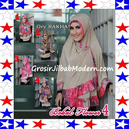 Jilbab Bolak Balik Jersey Flower 4 by Rakha Series