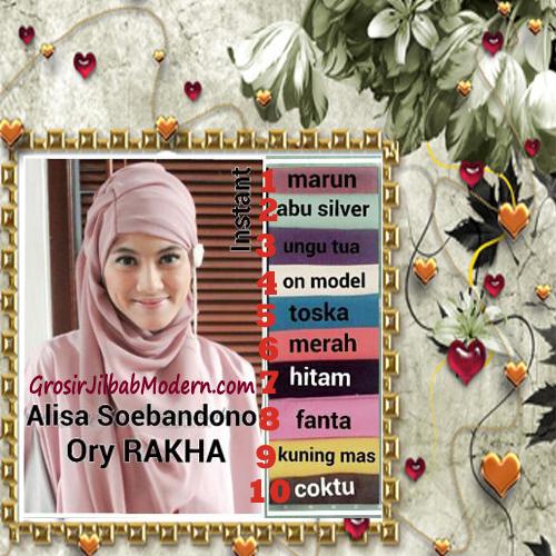 Jilbab Cerutti Cantik Ala Alisa Soebandono Original by Rakha