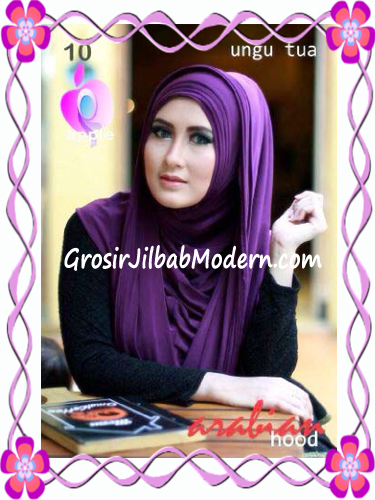 Jilbab Hoodie Instan Arabian by Apple Hijab Brand No 10 Ungu Tua
