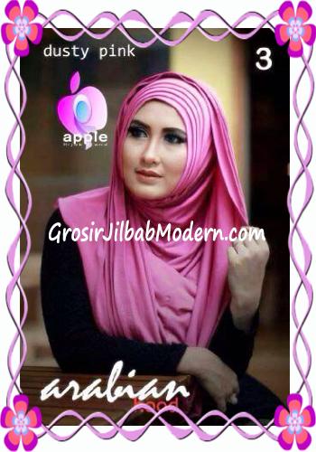 Jilbab Hoodie Instan Arabian by Apple Hijab Brand No 3 Dusty Pink