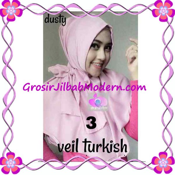 Jilbab Instant Cantik Exclusive Veil Turqish by Apple Hijab Brand No 3 Dusty